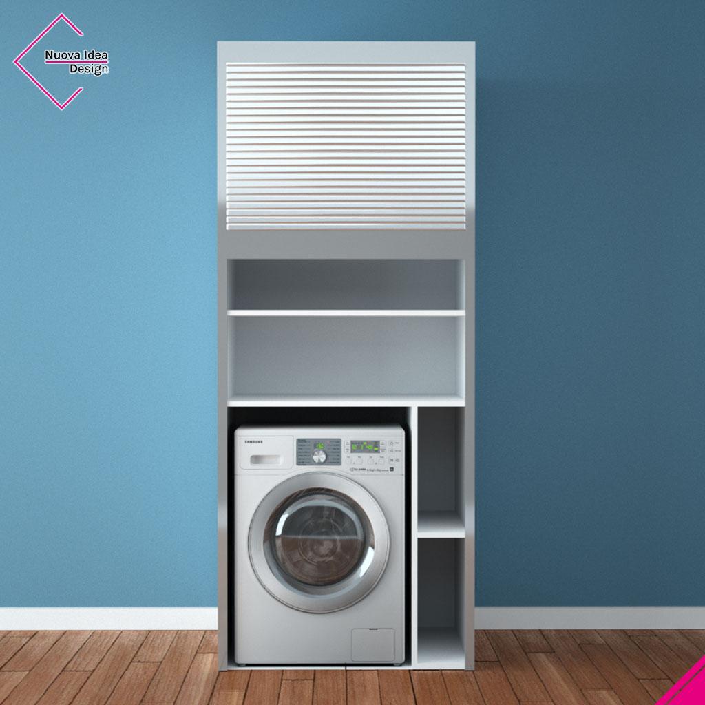 Mobile a serrandina porta lavatrice, modello Beta Wash
