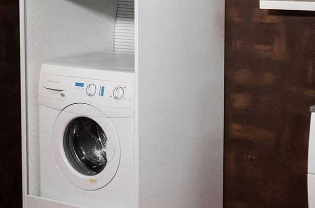 Mobili a serrandina porta lavatrice